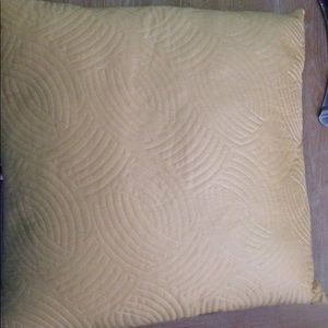 Gold Down Filled Square Accent Throw Pillow